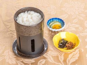 一人釜炊き白飯と香の物